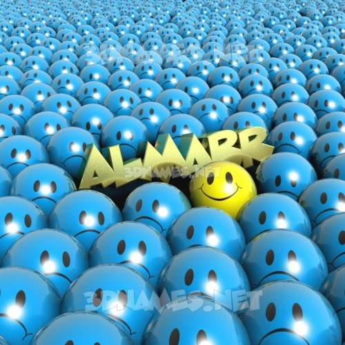 Special Smileys 3D Name for almarr