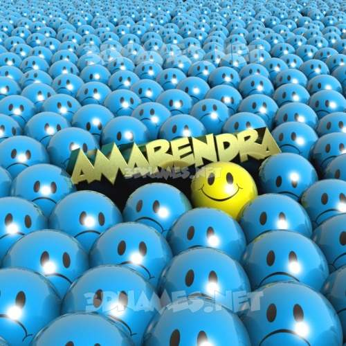 Special Smileys 3D Name for amarendra