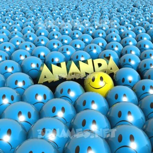 Special Smileys 3D Name for ananda