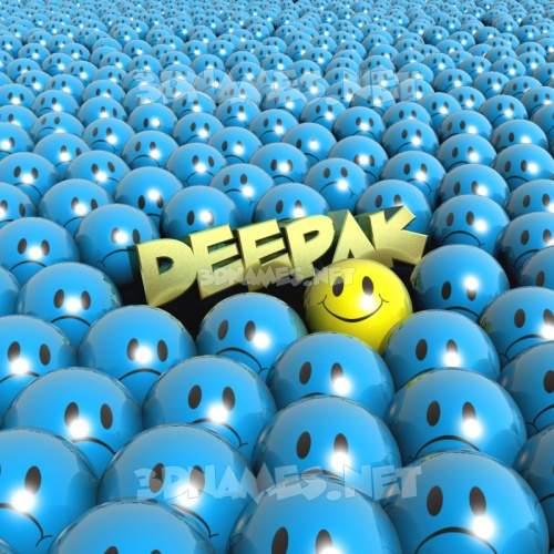 Special Smileys 3D Name for deepak
