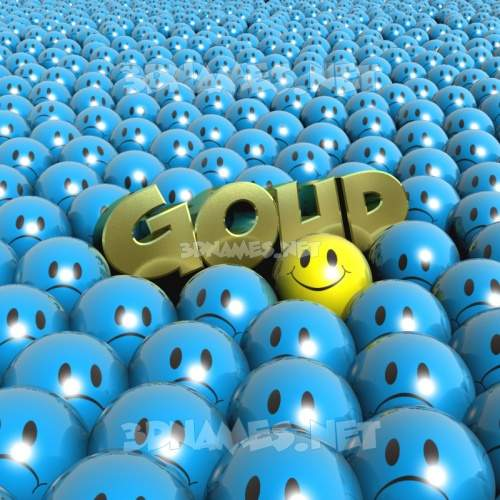 Special Smileys 3D Name for goud