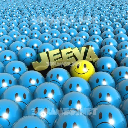 Special Smileys 3D Name for jeeva