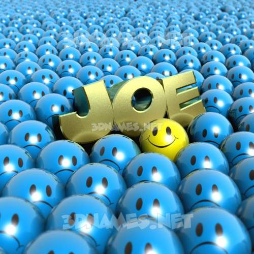 Special Smileys 3D Name for joe