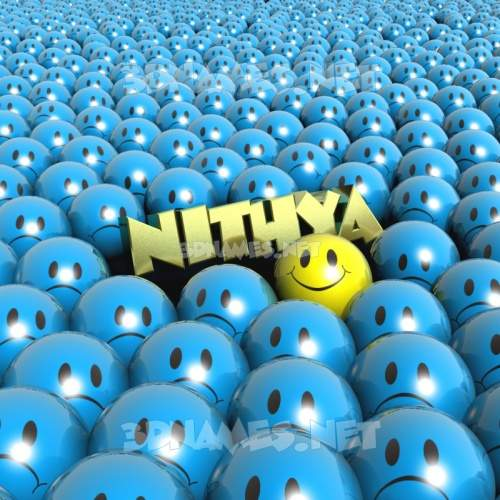 Special Smileys 3D Name for nithya