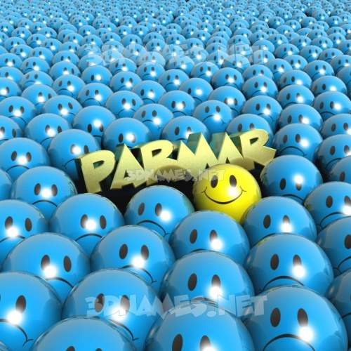 Special Smileys 3D Name for parmar