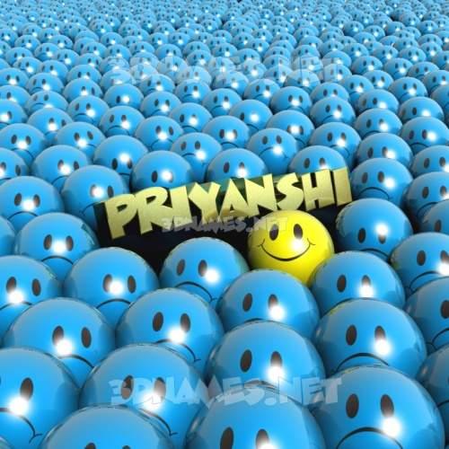 Special Smileys 3D Name for priyanshi