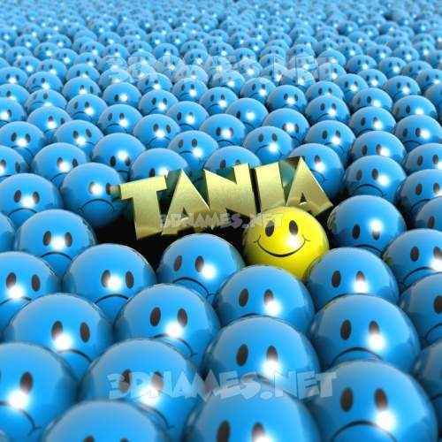 Special Smileys 3D Name for tania