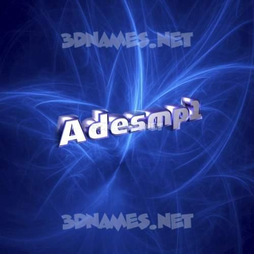 Plasma 3D Name for adesmp1