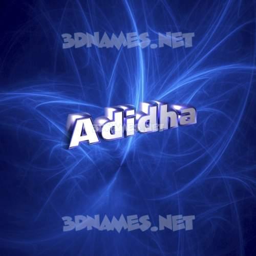 Plasma 3D Name for adidha