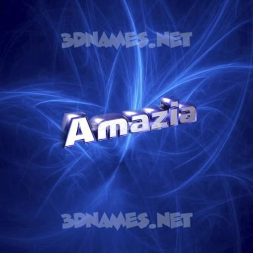 Plasma 3D Name for amazia