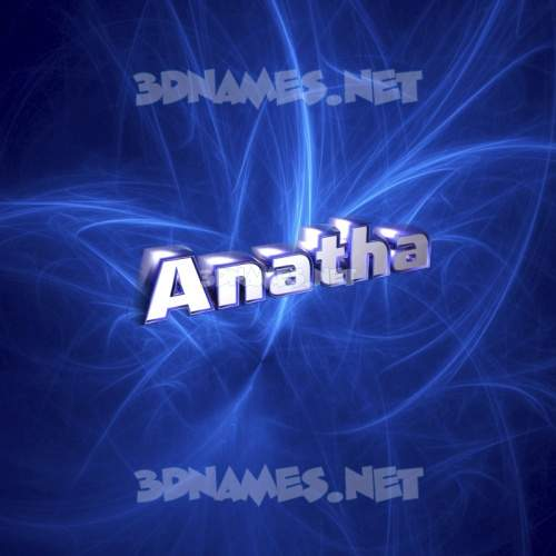 Plasma 3D Name for anatha