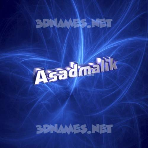 Plasma 3D Name for asadmalik