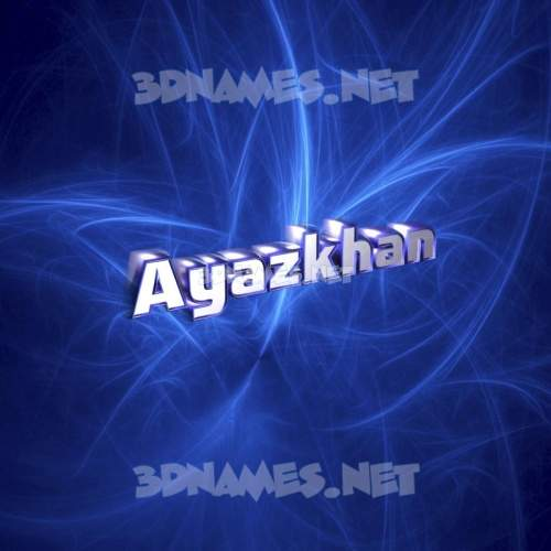 Plasma 3D Name for ayazkhan