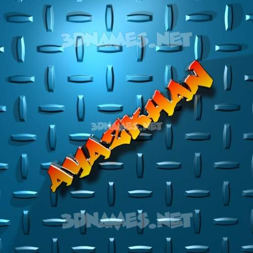 Grid Style 3D Name for ayazkhan