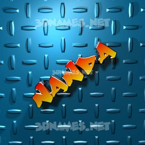 Grid Style 3D Name for nanda