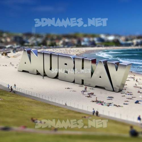 Bondi Beach 3D Name for anubhav