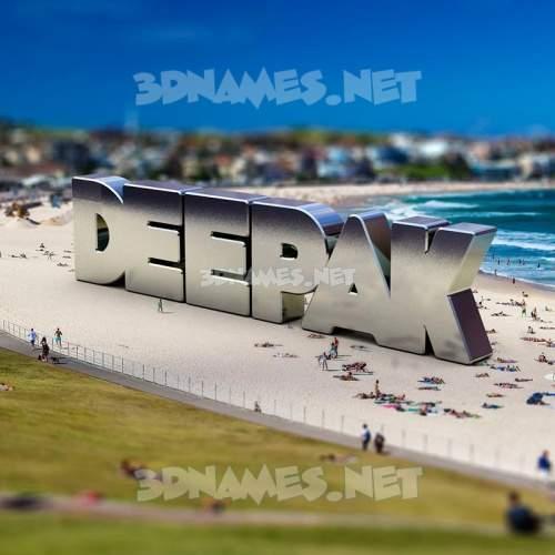 Bondi Beach 3D Name for deepak