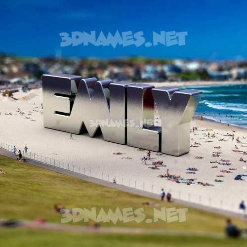 Bondi Beach 3D Name for emily