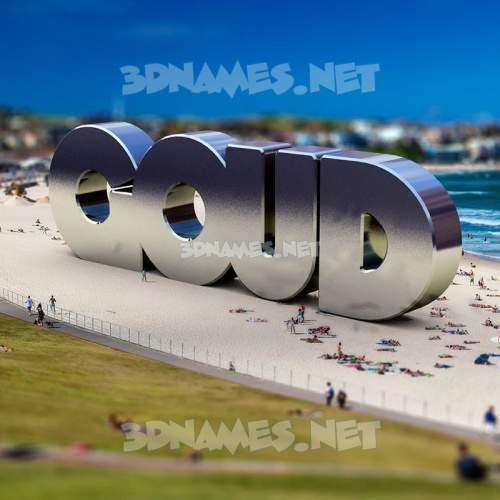 Bondi Beach 3D Name for goud