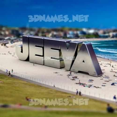 Bondi Beach 3D Name for jeeva