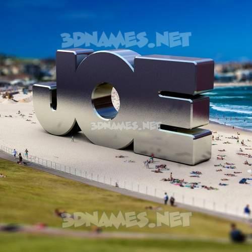 Bondi Beach 3D Name for joe
