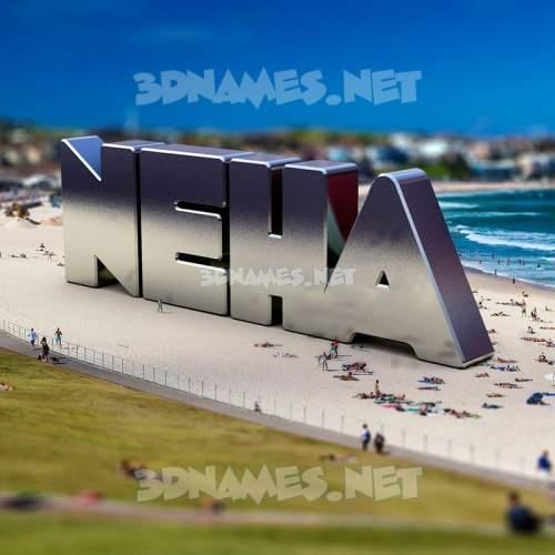 Bondi Beach 3D Name for neha