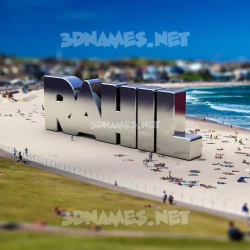 Bondi Beach 3D Name for rahil