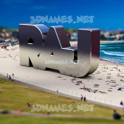 Bondi Beach 3D Name for raj