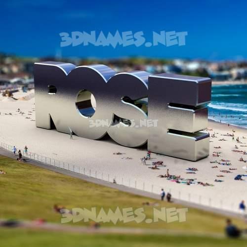Bondi Beach 3D Name for rose