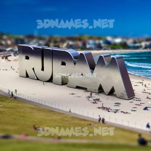 Bondi Beach 3D Name for rupam