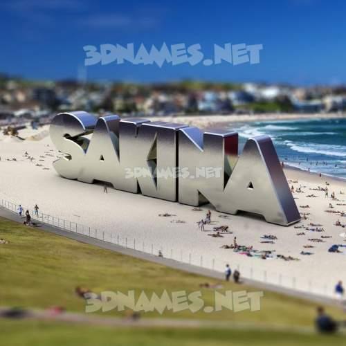 Bondi Beach 3D Name for sakina