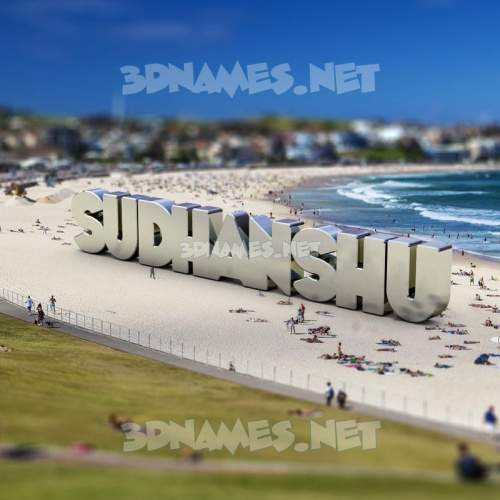 Bondi Beach 3D Name for sudhanshu