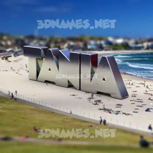 Bondi Beach 3D Name for tania