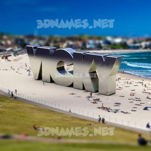 Bondi Beach 3D Name for vicky