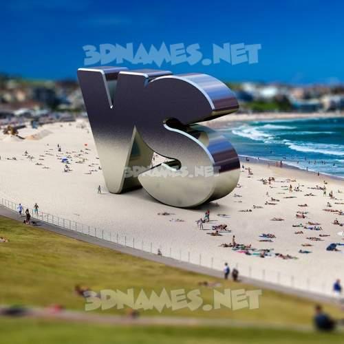 Bondi Beach 3D Name for vs