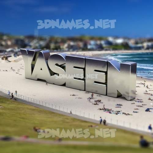 Bondi Beach 3D Name for yaseen