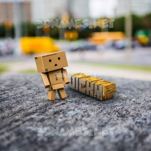 Hello Danbo 3D Name for vicky