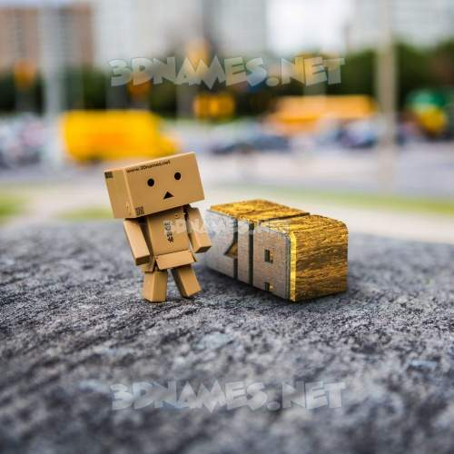 Hello Danbo 3D Name for zia