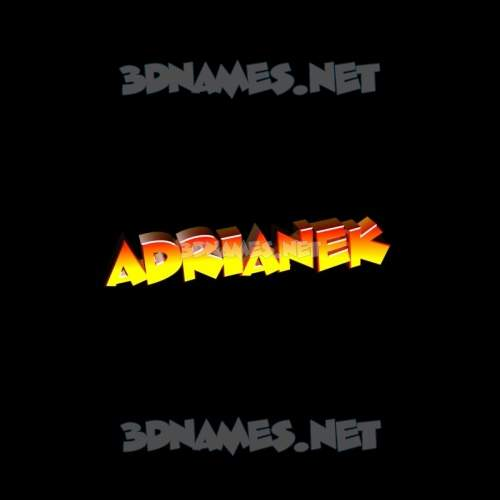 Black Background 3D Name for adrianek