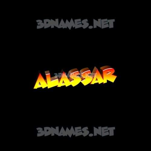 Black Background 3D Name for alassar