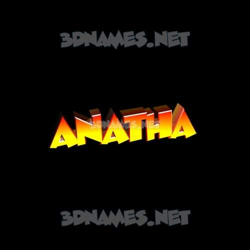 Black Background 3D Name for anatha