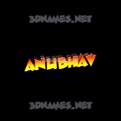 Black Background 3D Name for anubhav