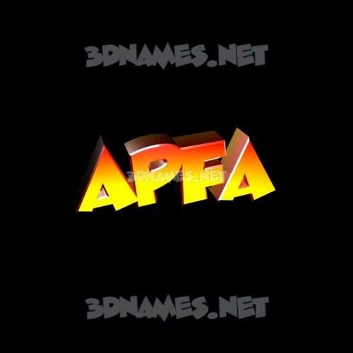Black Background 3D Name for apfa