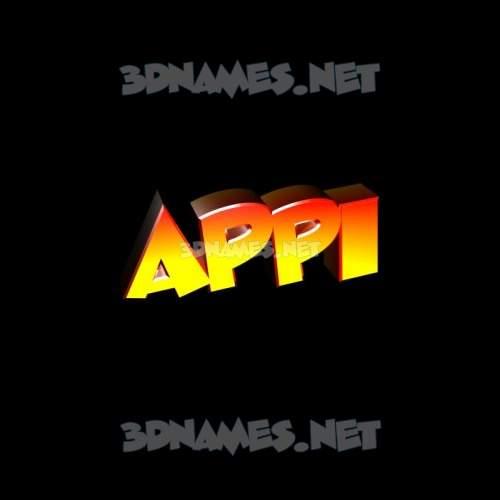 Black Background 3D Name for appi