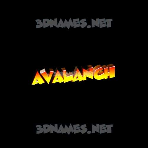Black Background 3D Name for avalanch