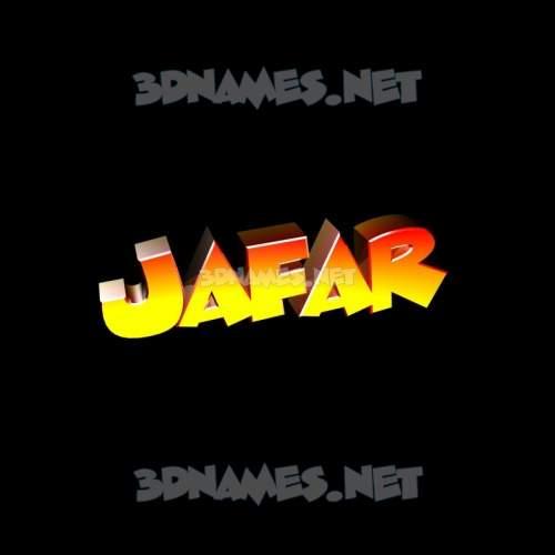 Black Background 3D Name for jafar