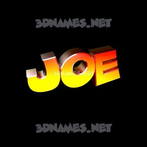 Black Background 3D Name for joe