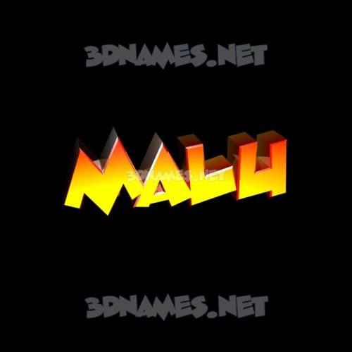 Black Background 3D Name for malu