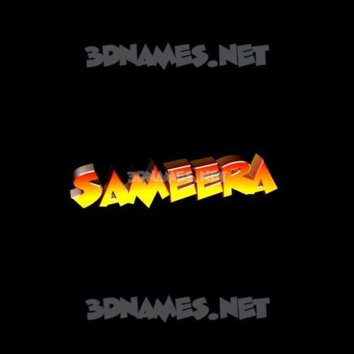 Black Background 3D Name for sameera