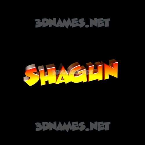 Black Background 3D Name for shagun
